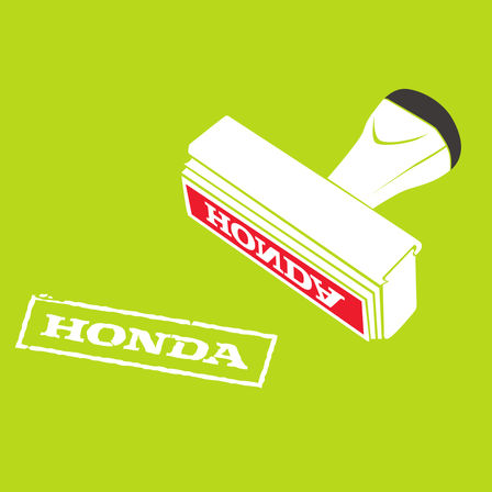 Illustration d'un tampon Honda.